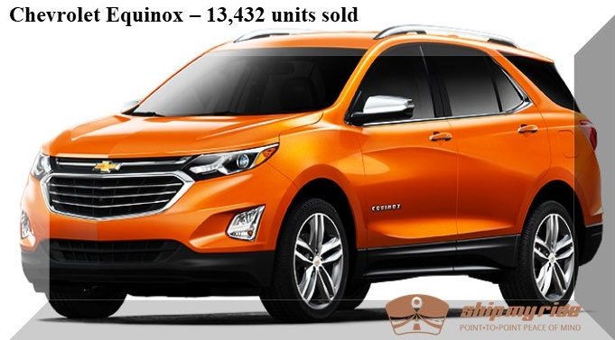 Chevrolet Equinox Car Shipping - Best selling car